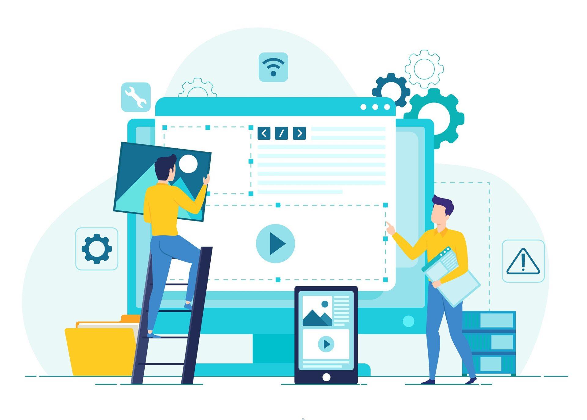Des ateliers ergonomique et design sont organisés pour réaliser votre charte web.