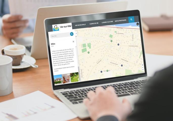 La cartographie interactive de Sempleo permet de valoriser le territoire en présentant tous les points d'intérêt de la commune.