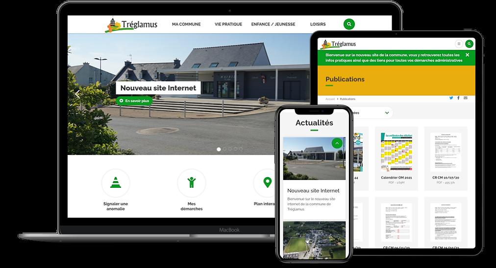 Le site de Tréglamus a été réalisé en juin 2021 avec la solution de sites internet pour mairie Sempleo.