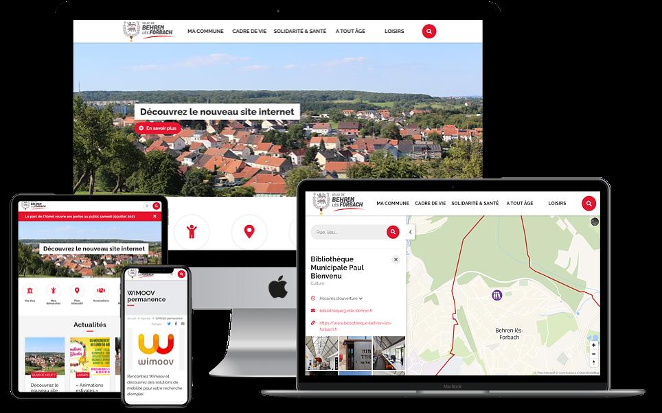 Le site web Sempleo de la mairie de Bahren-lès-Forbach est responsive, il a été réalisé en 2021.